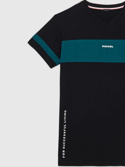 Diesel - UFTEE-CHEERLY, Black/Blue - T-Shirts - Image 3