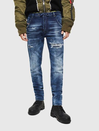 Diesel - Krooley JoggJeans 0097N, Dark Blue - Jeans - Image 1
