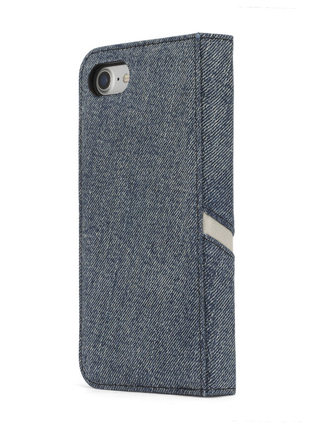 Diesel - DENIM IPHONE 8/7 FOLIO, Blue Jeans - Flip covers - Image 5