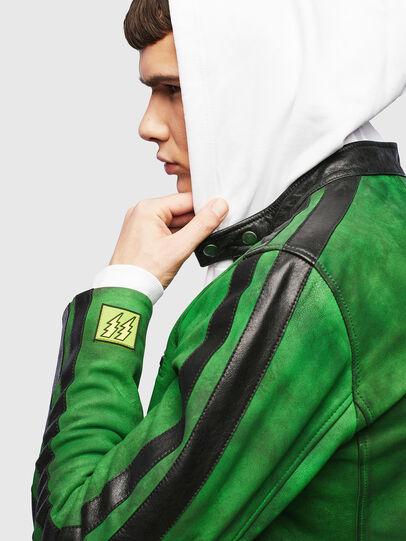Diesel - L-BOY-A, Green - Leather jackets - Image 3