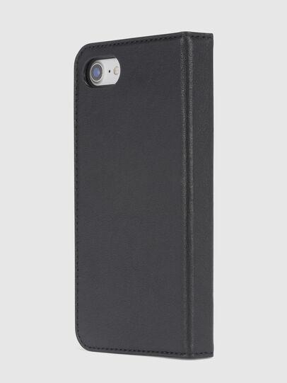 Diesel - BLACK DENIM/STUD/ZIPPER IPHONE 8/7 FOLIO, Black - Flip covers - Image 3