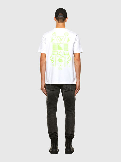 Diesel - T-JUST-SLITS-X84, White - T-Shirts - Image 6