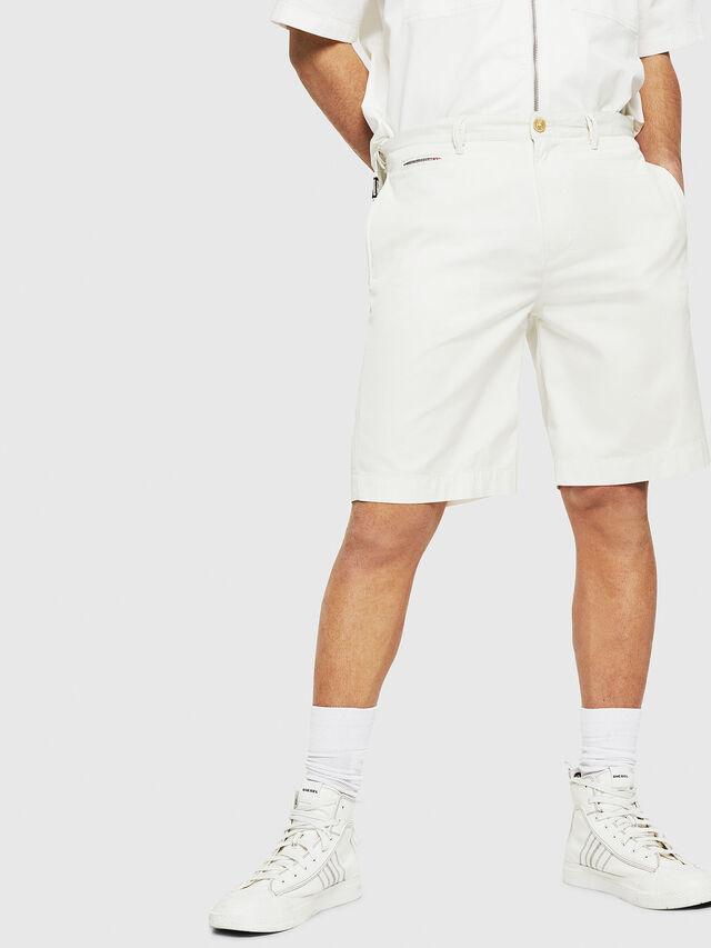 Diesel - P-WHOLSHO, White - Shorts - Image 1