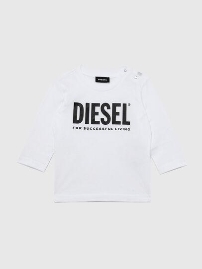 Diesel - TJUSTLOGOB ML, White - T-shirts and Tops - Image 1