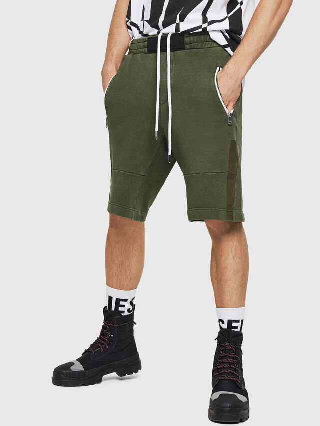 Diesel - P-BIRX, Dark Green - Shorts - Image 1
