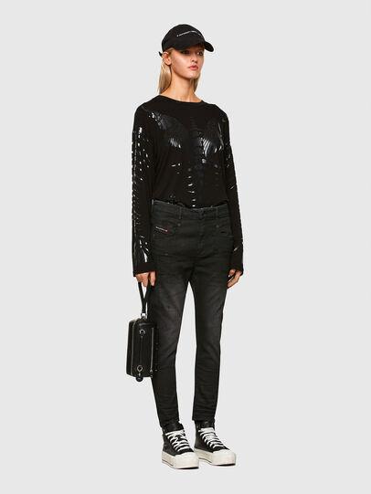 Diesel - Fayza JoggJeans 069QL, Black/Dark grey - Jeans - Image 6
