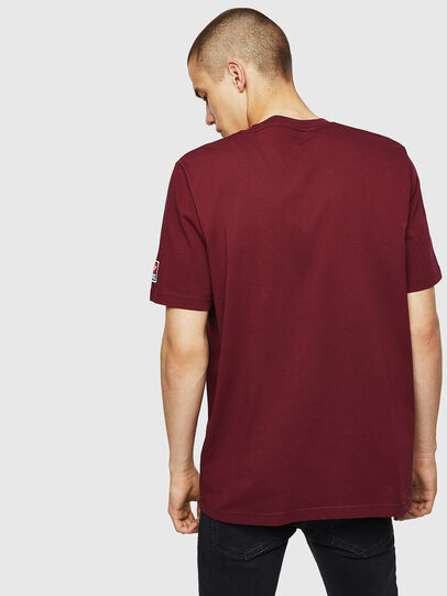 Diesel - T-JUST-DIVISION-D, Bordeaux - T-Shirts - Image 2