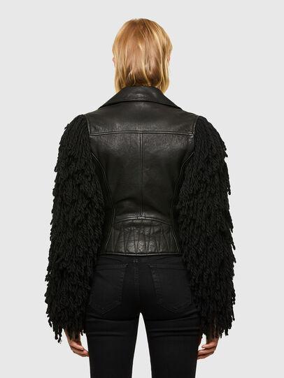 Diesel - L-ELIZABETH, Black - Leather jackets - Image 2