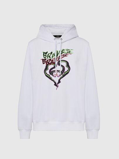 Diesel - F-ANG-HOOD-K20, White - Sweaters - Image 1