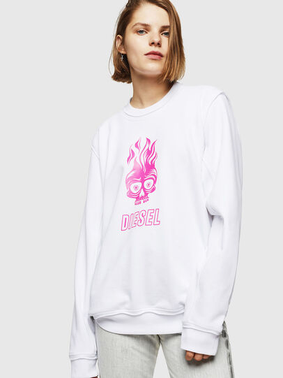 Diesel - F-LYANY-E, White - Sweaters - Image 1