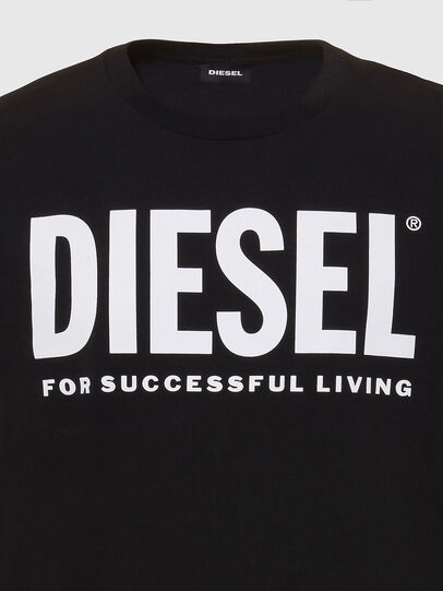 Diesel - T-SILY-WX, Black/White - T-Shirts - Image 3