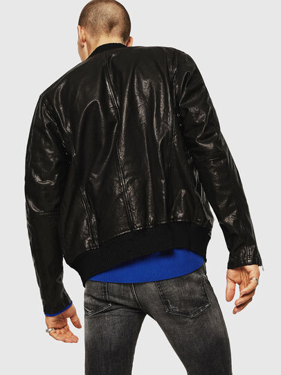 Diesel - L-DAVIDOV, Black - Leather jackets - Image 2