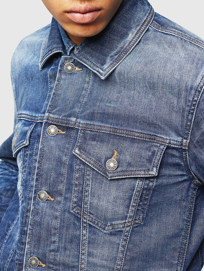 Diesel - NHILL-TW, Blue Jeans - Denim Jackets - Image 5