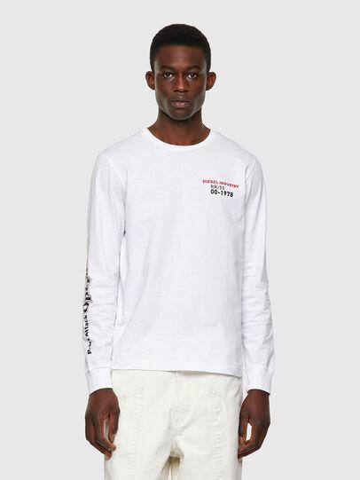 Diesel - T-DIEGOS-LS-K25, White - T-Shirts - Image 1