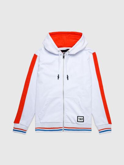 Diesel - UMLT-BRANDON-Z-SP, White/Orange - Sweaters - Image 1