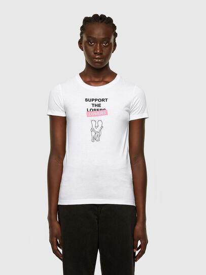 Diesel - T-SOAL-R1, White - T-Shirts - Image 1