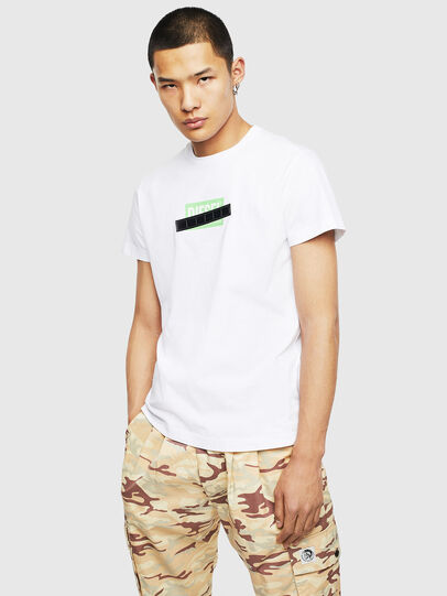 Diesel - T-DIEGO-S7, White/Green - T-Shirts - Image 1