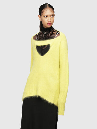 Diesel - M-GIORGIA, Yellow Fluo - Knitwear - Image 1