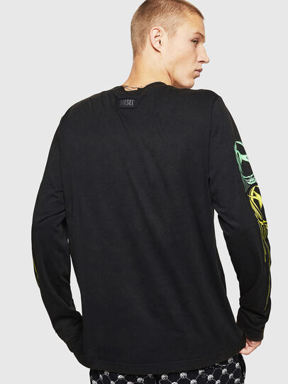 Diesel - T-JUST-LS-B5, Black - T-Shirts - Image 2