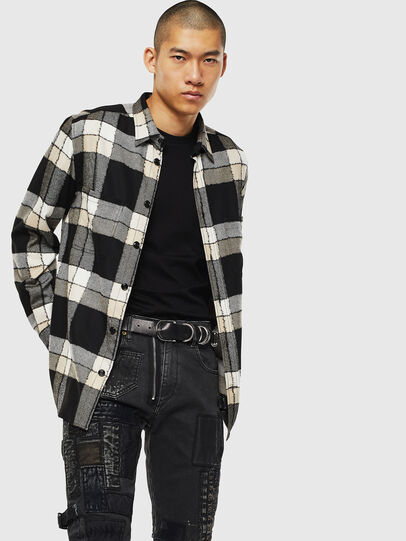 Diesel - S-MILLER-COUPE, Black/White - Shirts - Image 4