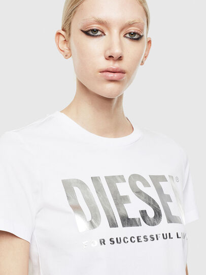 Diesel - T-SILY-WX, White/Grey - T-Shirts - Image 3