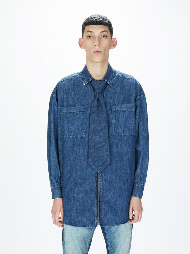 Diesel - SOTS01, Dark Blue - Shirts - Image 3