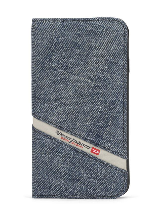 Diesel - DENIM IPHONE 8 PLUS/7 PLUS FOLIO, Blue Jeans - Flip covers - Image 1