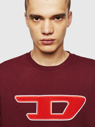 Diesel - T-JUST-DIVISION-D, Bordeaux - T-Shirts - Image 3