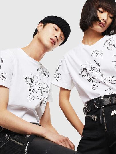 Diesel - CL-T-DIEGO-3, White - T-Shirts - Image 5