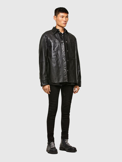 Diesel - L-BROWN, Black - Leather jackets - Image 7