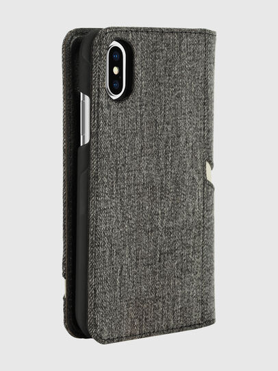 Diesel - DIESEL 2-IN-1 FOLIO CASE FOR IPHONE XS & IPHONE X, Grey - Flip covers - Image 5