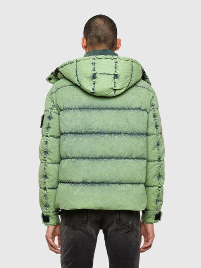 Diesel - W-EVACID, Green Fluo - Winter Jackets - Image 2