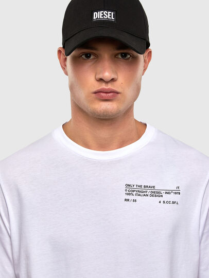 Diesel - T-JUST-LS-N62, White - T-Shirts - Image 4