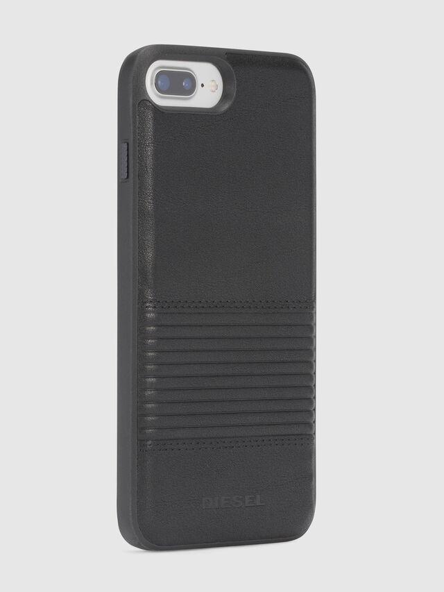 BLACK LINED LEATHER IPHONE 8 PLUS/7 PLUS/6s PLUS/6 PLUS CASE, Black