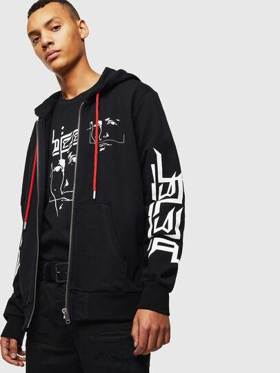Diesel - S-GIRK-HOOD-ZIP-1, Black - Sweaters - Image 3