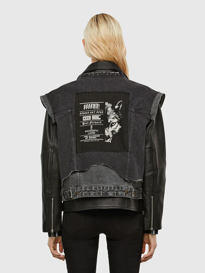 Diesel - L-KELLY, Black - Leather jackets - Image 2
