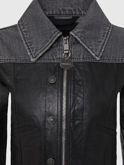 Diesel - L-LYLE, Black - Leather jackets - Image 4