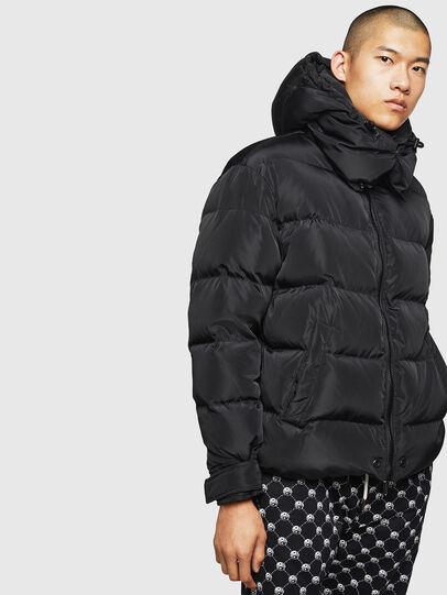 Diesel - W-SMITH-YA, Black - Winter Jackets - Image 1