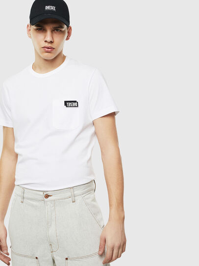 Diesel - T-WORKY-SLITS, White - T-Shirts - Image 5