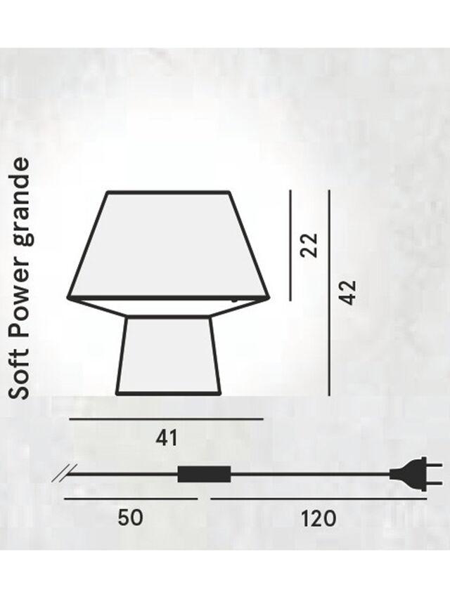 Diesel - SOFT POWER GRANDE, Black - Table Lighting - Image 2