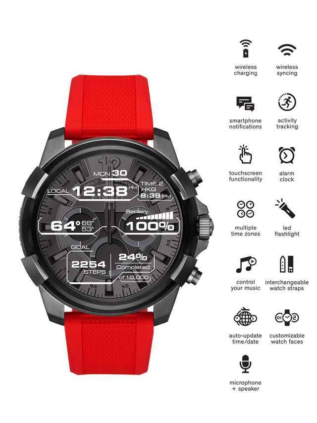 Diesel - DT2006, Red - Smartwatches - Image 1