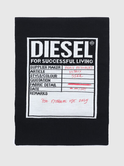 Diesel - K-GUBO D, Black - Scarf - Image 1