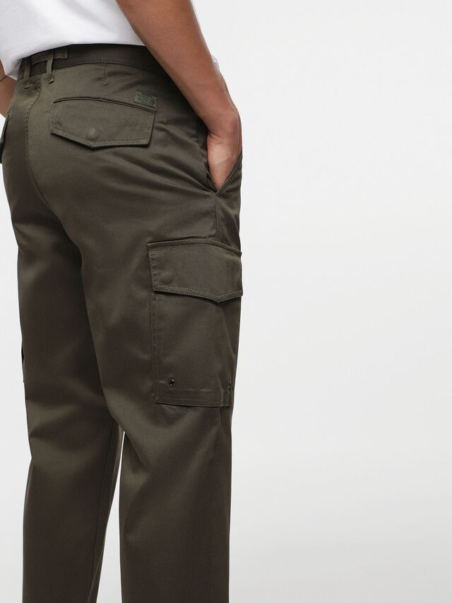 Diesel - P-MADOX-CARGO, Military Green - Pants - Image 4