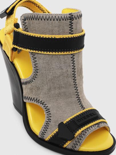 Diesel - SA-FLAMINGO HS, Gray/Black - Sandals - Image 4