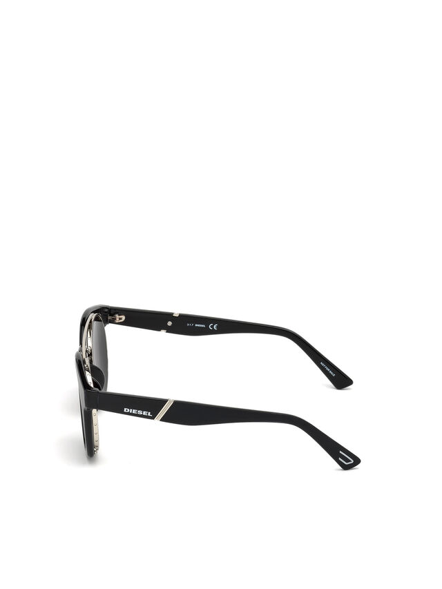 Diesel - DL0251, Bright Black - Sunglasses - Image 3