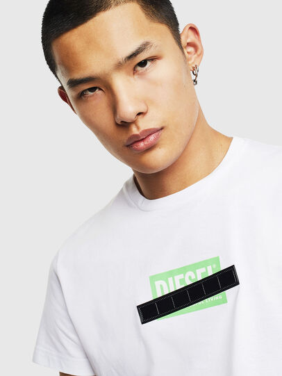 Diesel - T-DIEGO-S7, White/Green - T-Shirts - Image 3