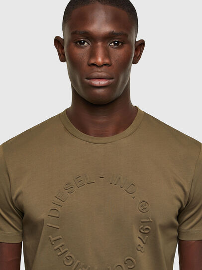 Diesel - T-DIEGOS-A2, Olive Green - T-Shirts - Image 3