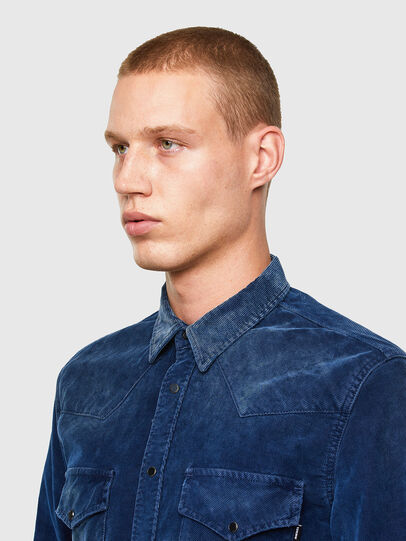 Diesel - S-EAST-LONG-VE, Blue - Shirts - Image 3