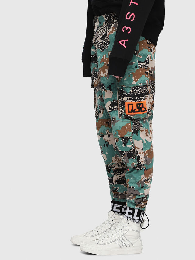 Diesel - P-LUZA-CAMOU, Green Camouflage - Pants - Image 3