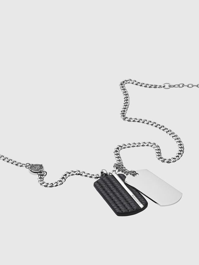 Diesel - NECKLACE DX1040, Silver - Necklaces - Image 2